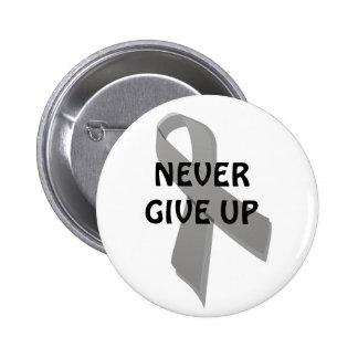 gray awareness ribbon pinback buttons