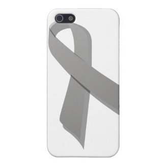 gray awareness ribbon cover for iPhone SE/5/5s