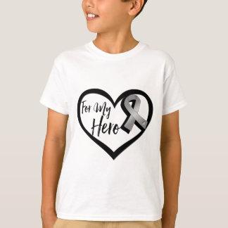 Gray Awareness Ribbon For My Hero T-Shirt
