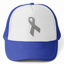 gray awareness ribbon trucker hat