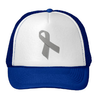 gray awareness ribbon trucker hat