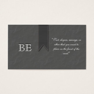 Gray Awareness Support Ribbon Business Cards