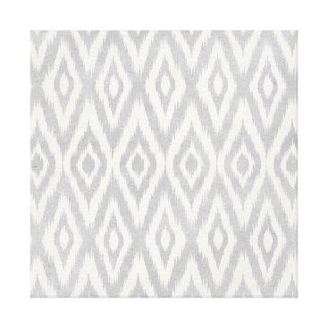 Aztec Themed Gray Aztec Pastel Watercolor Ikat Soft Geometric Canvas Print