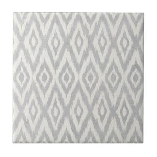 Gray Aztec Pastel Watercolor Ikat Soft Geometric Ceramic Tile