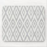 Gray Aztec Pastel Watercolor Ikat Soft Geometric Mouse Pad