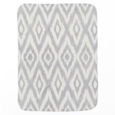 Aztec Themed Gray Aztec Pastel Watercolor Ikat Soft Geometric Swaddle Blanket