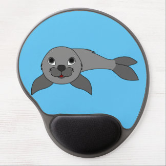 Gray Baby Seal Gel Mouse Pad