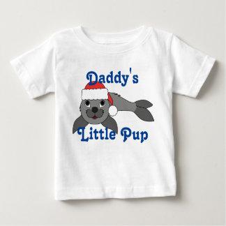 Gray Baby Seal with Christmas Red Santa Hat T Shirt
