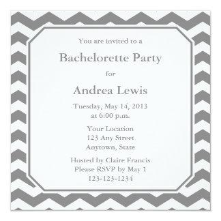 """Gray Bachelorette Party Invite / Announcement 5.25"""" Square Invitation Card"""