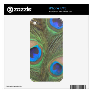 Gray Background Peacock Feathers iPhone 4S Decals