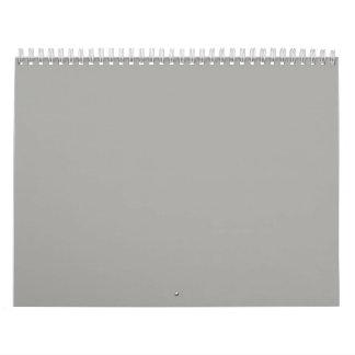 Gray Backgrounds on a Calendar