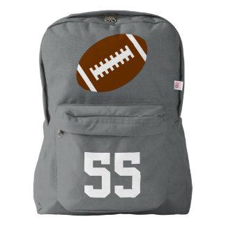 Gray Backpack: Football American Apparel™ Backpack