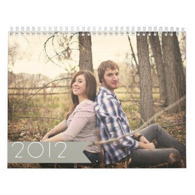 Gray Banner Design 2012 Wall Calendar