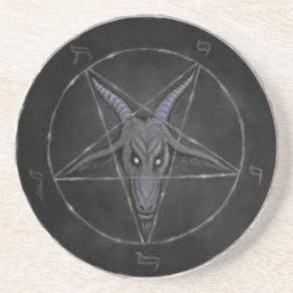 Gray Baphomet Drink Coaster or Ritual Alter Piece