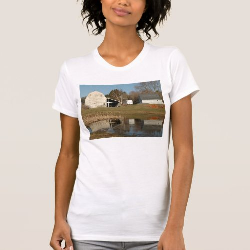 Gray Barn and Streetscape 1V T-Shirt