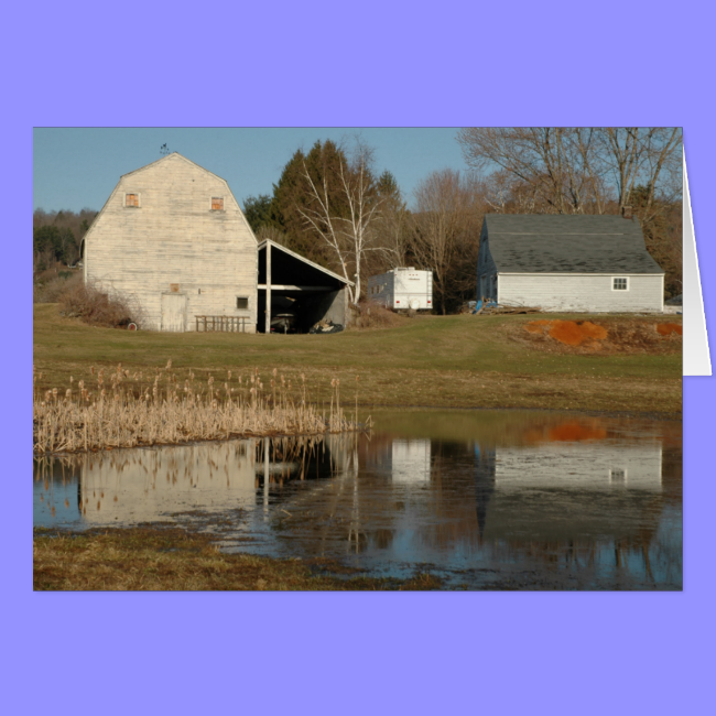 Gray Barn - Reflections of Serenity Greeting Cards