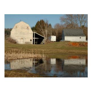 Gray Barn - Reflections of Serenity Postcard