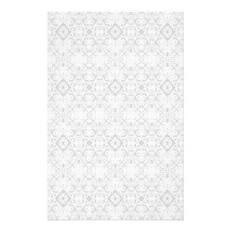 Gray Baroque Geometric Pattern Stationery