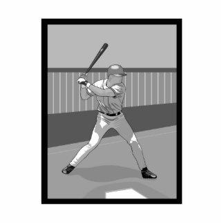 Gray Baseball Batter Logo Statuette