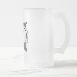 Gray Basketball Frosted Glass Beer Mug