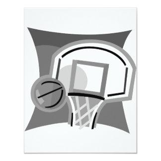 Gray Basketball 4.25x5.5 Paper Invitation Card