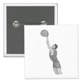 gray basketball man 2 inch square button