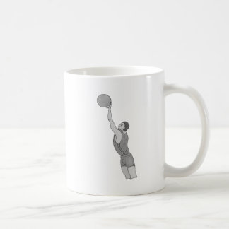 gray basketball man classic white coffee mug
