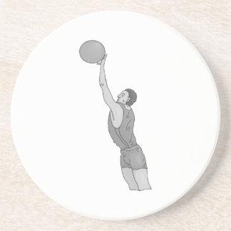 gray basketball man coasters