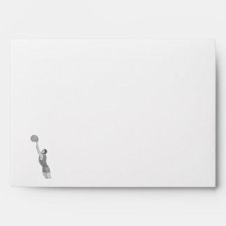 gray basketball man envelope