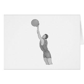gray basketball man greeting card