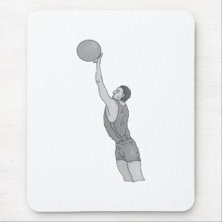 gray basketball man mouse pad