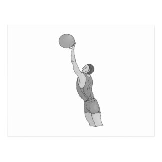 gray basketball man postcard
