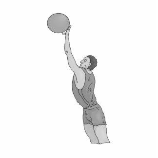 gray basketball man standing photo sculpture