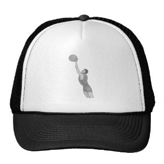 gray basketball man trucker hat