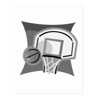 Gray Basketball Postcard