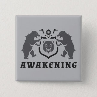 Gray Bears Awakening Blazon Button