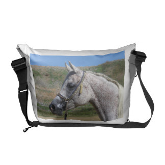 Gray Beduoin Arabian Mare Messenger Bag