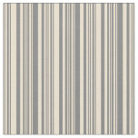[ Thumbnail: Gray & Beige Colored Stripes Fabric ]