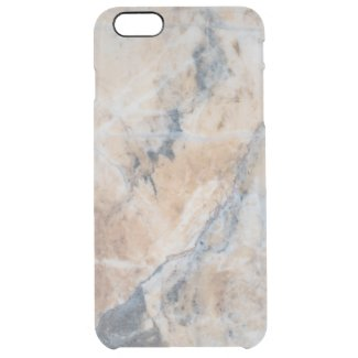 Gray & Beige Marble Texture Uncommon Clearly™ Deflector iPhone 6 Plus Case