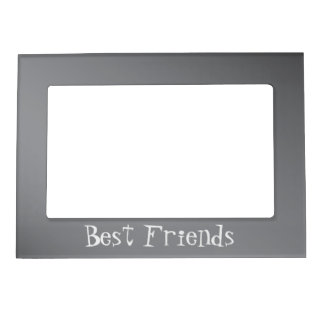Gray Best Friends Magnetic Frame