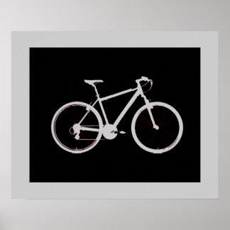 gray bicycle ~ black&white poster