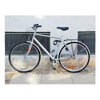 Gray Bicycle, Copenhagen, Denmark Postcard