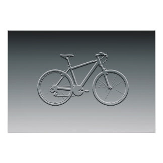 gray bike ~ bas-relief posters
