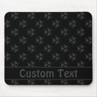 Gray Biohazard Mousepad w/ Custom Text