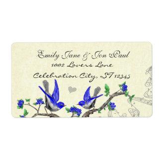 Gray Bird Royal Blue Extra Large Return Label