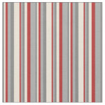 [ Thumbnail: Gray, Bisque, Red, and Dark Grey Striped Pattern Fabric ]