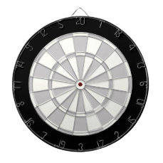 Gray Black And White Dart Board