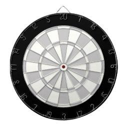 Gray Black And White Dart Board