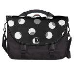 Gray, black and white dot pattern. computer bag