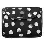 Gray, black and white dot pattern. Custom Sleeves For MacBooks